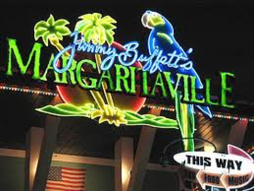 City Walk in Universal Orlando has many bars, clubs and restaurants including Jimmy Buffet's Margaritaville..