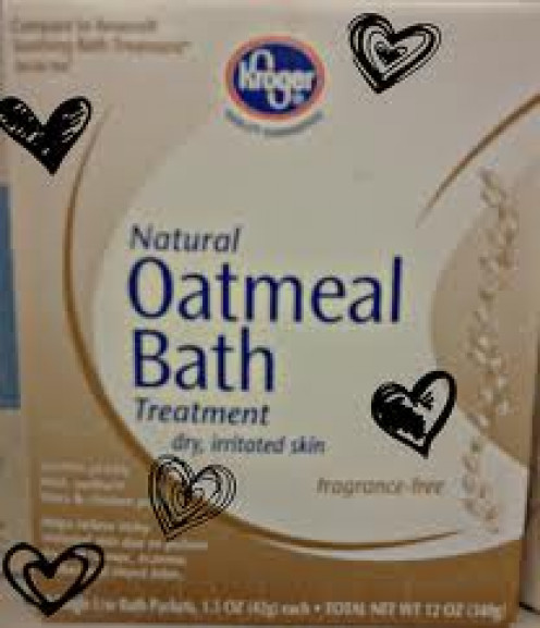 Oatmeal baths have many uses including helping to get rid of poison ivy.