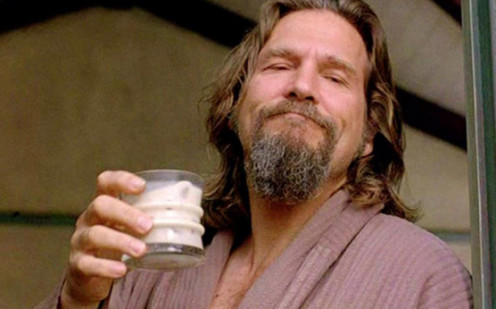 The Dude enjoying his favourite White Russian
