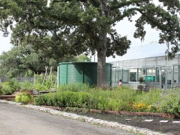 The collection tank at the Houston Parks Green houses also serves as the required detention for the city of Houston that floods easily from heavy rainfall runoff