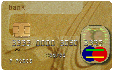 A common credit card might look like this.
