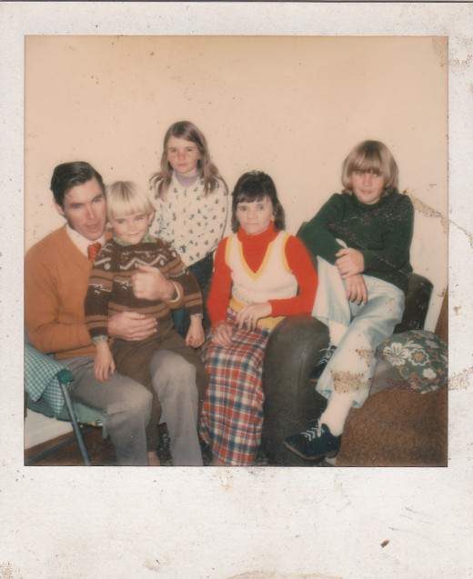 How lucky we've been to raise three wonderful children to adulthood.   Here we are as a nuclear family in the 1970s.