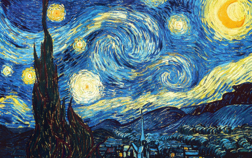 This is Starry Night, one of the most recognizable and famous paintings in all of human history.  The artist responsible for this masterpiece is Vincent van Gogh.