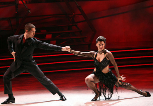 Jeanine and Jason, contestants on So You Think You Can Dance.  Dance is rhythmic physical movement and falls across a very wide spectrum.