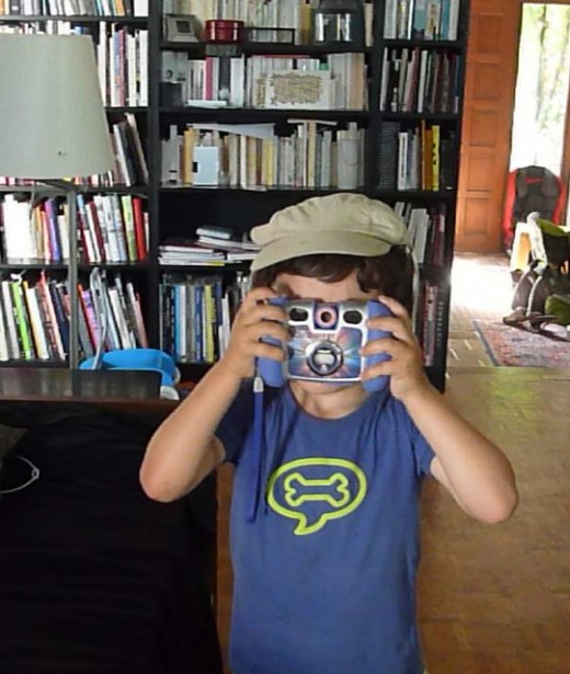 My five year old nephew Alois with his camera.