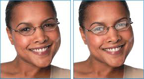 Anti reflective coating for cosmetically appealing glasses