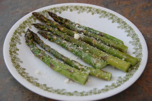 Delicious, oven-roasted Parmesan asparagus