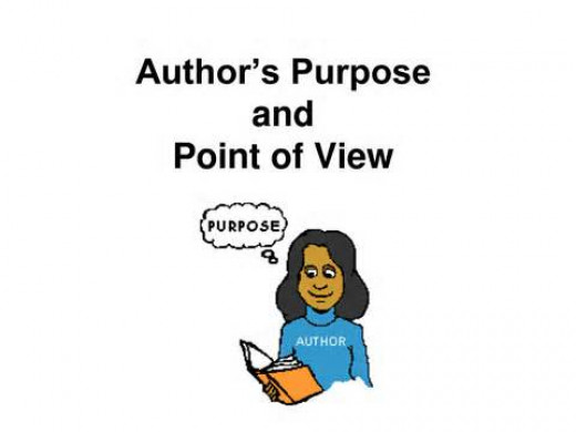 An Author's purpose is always to intentionally quicken readers to a point of view.