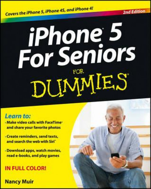 iPhone 5 for seniors for dummies cover