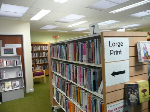Large Print Section of the Library
