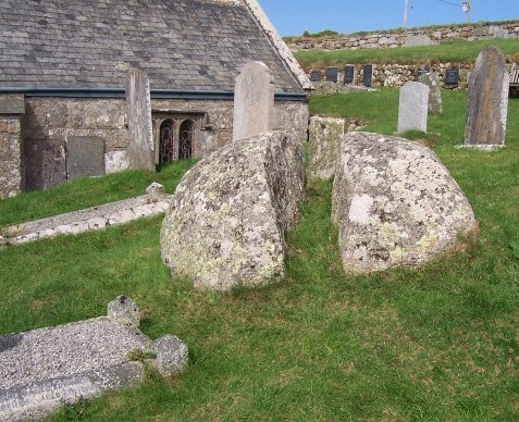 St Levan's Churchyard: Stone in the Churchyard, End of the World Prophecy.