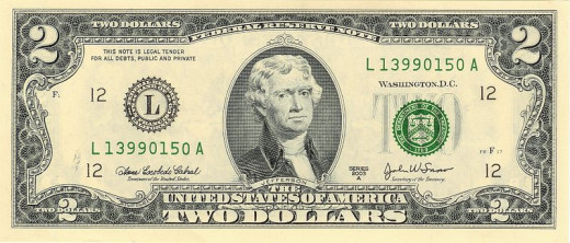 A Two Dollar bill from the most capitalist economy on the planet.