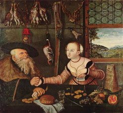 """The Ill-matched Couple"" by Lucas Cranach the Elder. 1532"