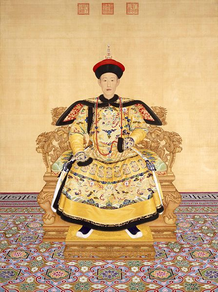 The Qianlong Emperor of China, whose interest in Western civilization led to closer ties as well as the building of several western style fountain works and mansions.