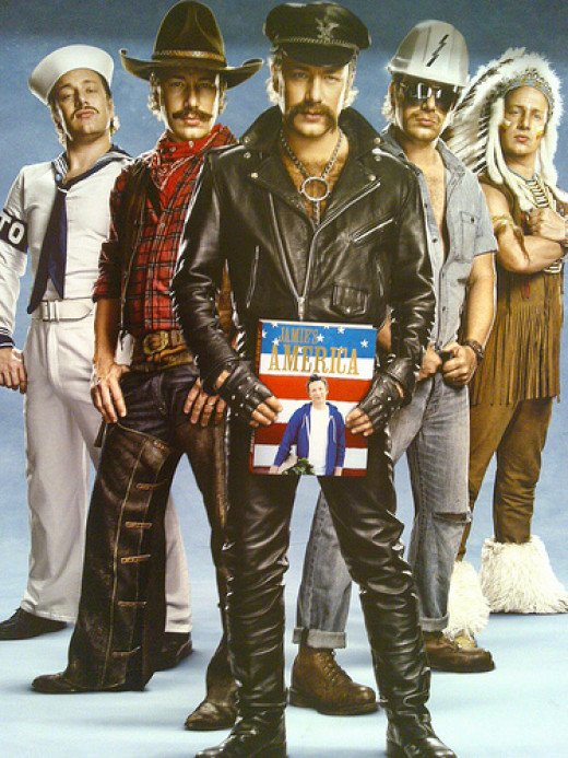 Jamie as the Village People from markhillary on Flickr