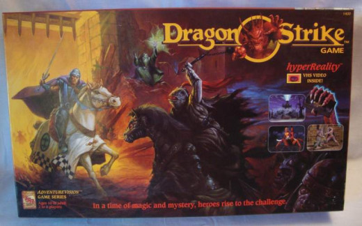 Dragonstrike, a Dungeons and Dragons board game that featured a VHS movie.