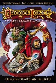 DVD cover art for Dragonlance Dragons of Autumn Twilight.
