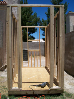 Framing the Walls for a Shed Style Dog House with Air Conditioning