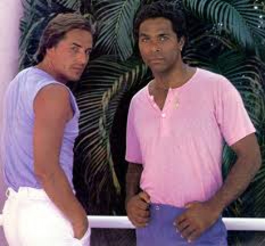 Crocket and Tubbs fight crime on a daily basis in Miami Vice. They were Florida detectives who went after the big fish while fighting crime. Great show.