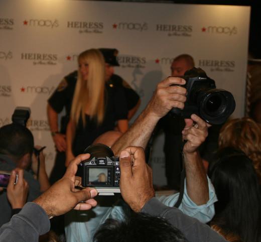 Paris Hilton at Macy's