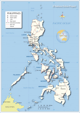 Philippines on the map.