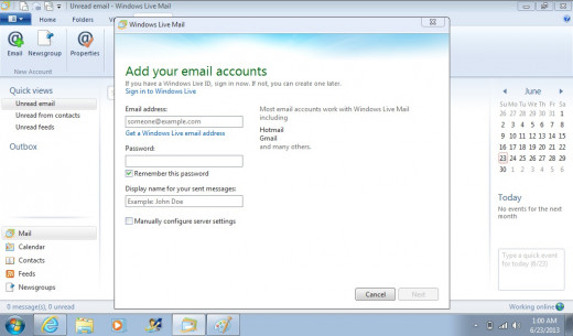 Enter your Gmail screen name and password.