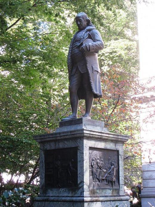 Benjamin Franklin Statue in Boston