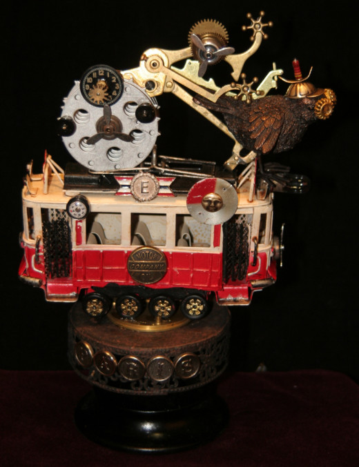 Steampunk Art by: Beverly Holman at Affaire de Coeur, 132 S. Glassell Street, Orange, CA 92866