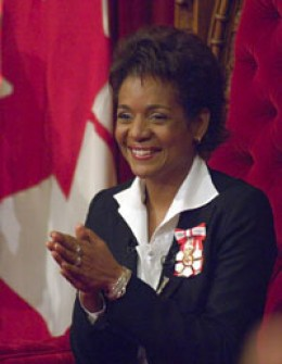 Her Excellency the Right Honourable Michaëlle Jean; Governor General of Canada.
