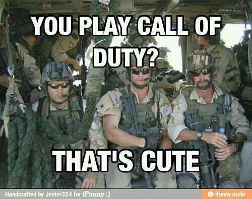 You play Call of Duty?  That's cute.