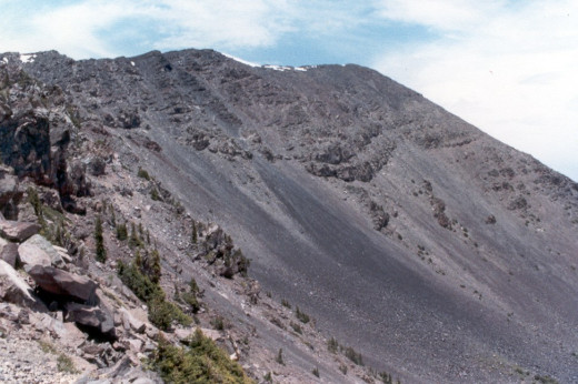 The final approach to the summit of Humphreys Peak, Arizona.