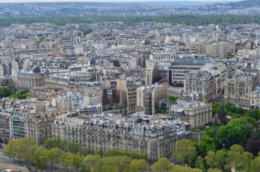 Paris from the Eiffel Tower from Tony DeLorger
