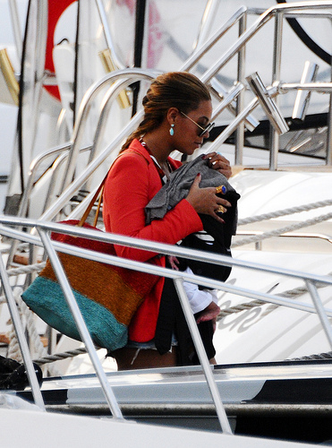 Beyoncé with daughter Blue Ivy