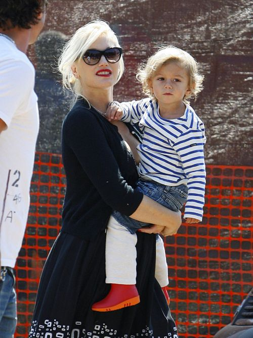 Gwen Stefani with son Zuma Nesta Rock