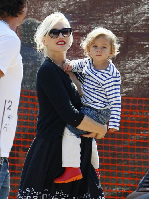 Gwen Stefani with son Zuma Nesta Rock