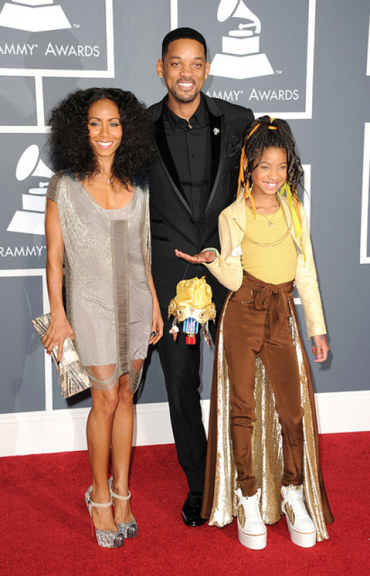 Will and Jada Smith with daughter Willow