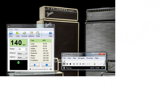 Screenshot of properly set Metronome and Media Player Classic