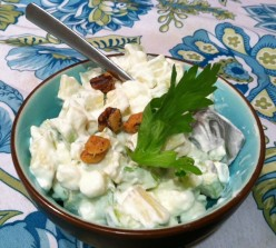 Apple Salad with Marshmallows & Walnuts