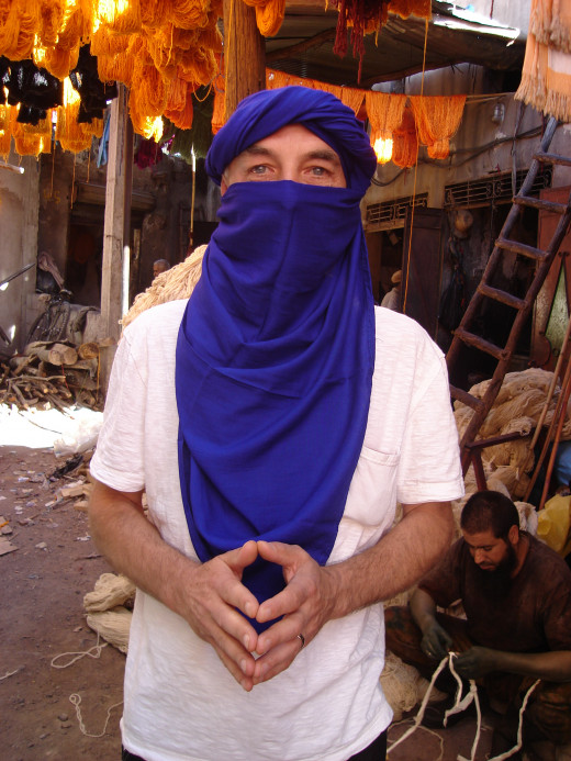 Moroccan scarf makes anyone a man of mystery