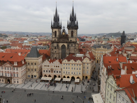 Awesome view of Prague's Old Town Square...