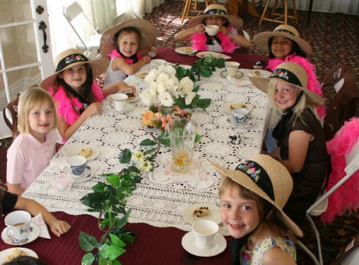 A Tea Party Themed Birthday for Little Girls