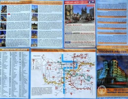 On the other side of the map are attractions, hotels, meeting points and an undergound map