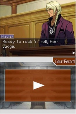 Apollo Justice: Ace Attorney. A scene from the NDS game
