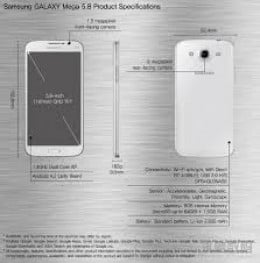Specifications of the Samsung Galaxy Mega 5.8