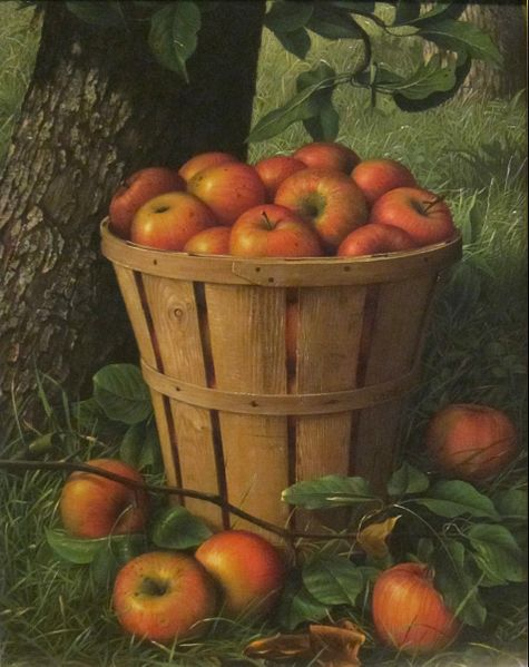 """Basket of Apples"" by Levi Wells Prentice, 1895, Dayton Art Institute"