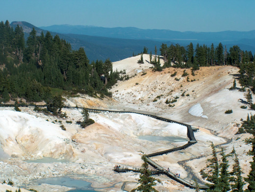 Stay on the boardwalk when visiting Bumpass Hell