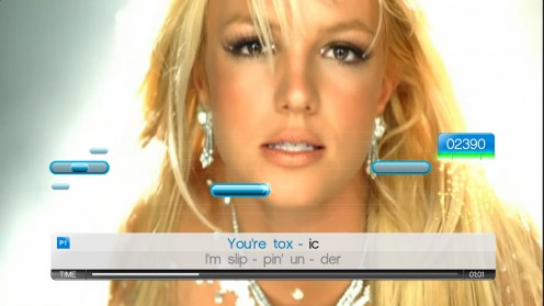 Britney Spears on Singstar