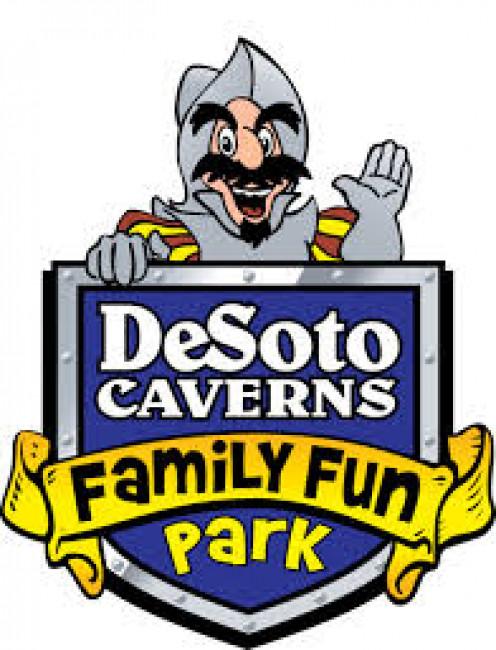 Desoto Caverns family fun park is located in Childersburg, Alabama.