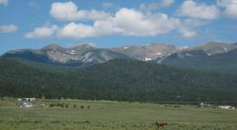 Wheeler Peak, New Mexico, east aspect.