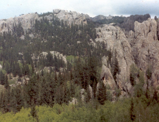 Harney Peak, South Dakota in the right background.
